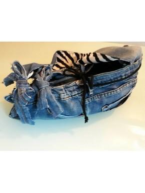 Sac en jean et zebre UP destroyed 2