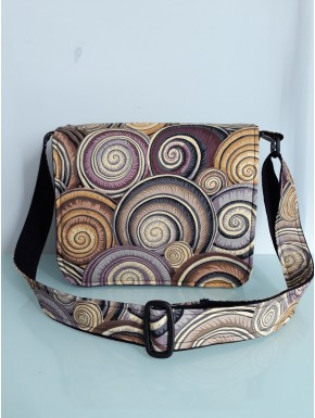 Sac besace bandoulière spirales taille S