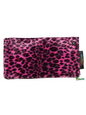 Porte chéquier léopard personnalisable